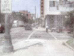 Figure 2-1. A street crossing as might be seen by a person with general reduced visual acuity