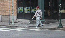 Figure 2-4. Pedestrian with long white cane