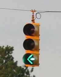 Figure 3-3. Protected left turn signal