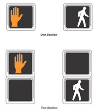 Figure 3-7. Typical pedestrian signal symbols