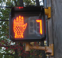 Figure 3-8. Correct display of pedestrian countdown signal (counting down during flashing DONT WALK)