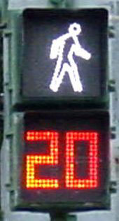 Figure 3-9. Incorrect display because countdown is displayed during WALK interval