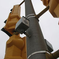 Figure 6-21. APS speaker mounted directly to the metal pole for more support during high wind