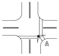 Figure 6-5. APS at channelized turn lane