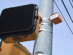 Figure 9-19. Pedhead-mounted speaker mounted on the pole as typically installed in Atlanta.